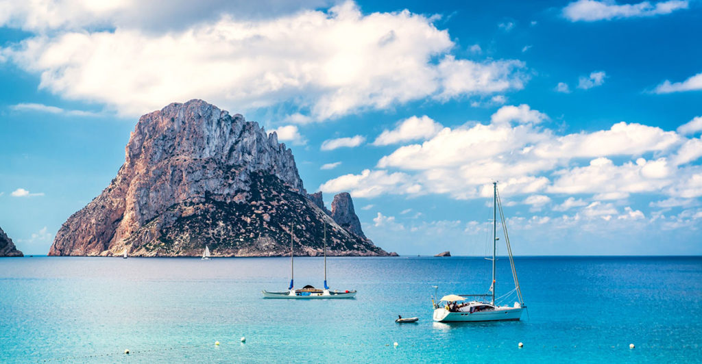Spend the day on board a sailboat in Ibiza and Formentera