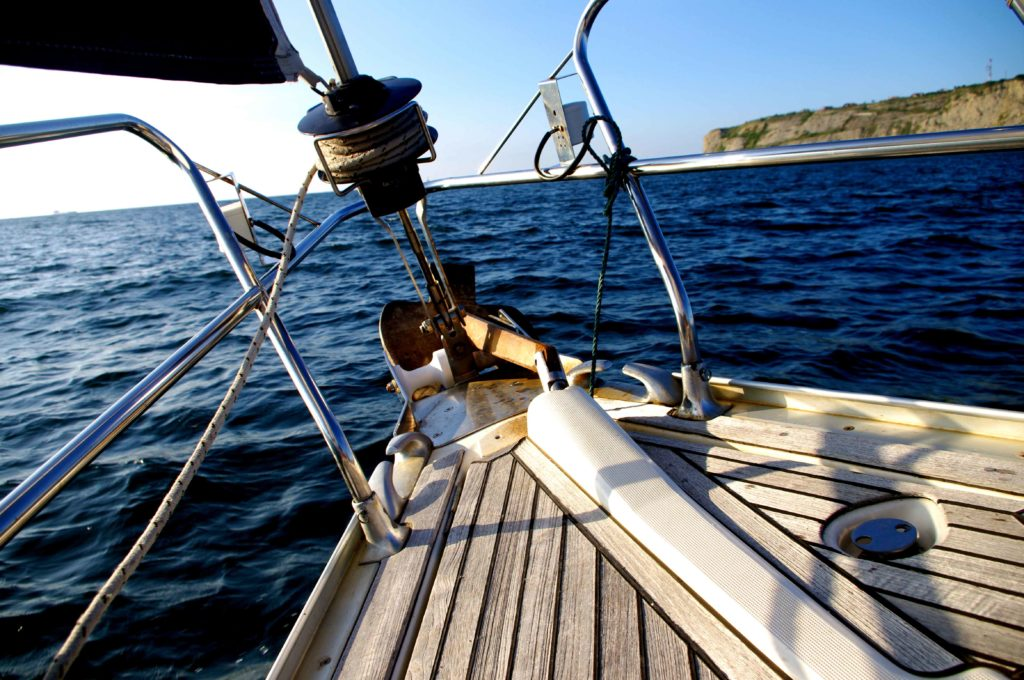 Learn to sail on board a sailboat.